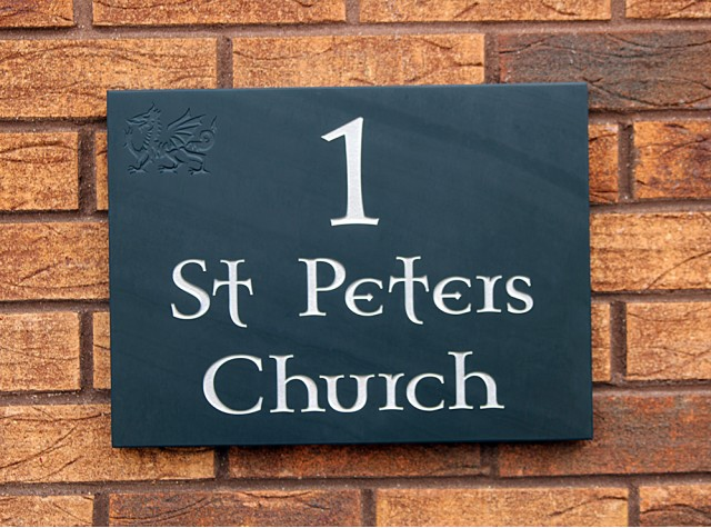 Welsh Slate House Sign - 300mm x 400mm x 20mm